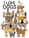 Amo i cani Immagine Stock Libera da Diritti