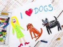 Amo i cani Fotografia Stock Libera da Diritti