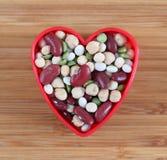 Amo i fagioli misti del legume fotografia stock libera da diritti