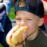 Amo i hot dog! Immagini Stock