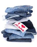 Amo i jeans Fotografia Stock Libera da Diritti