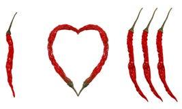 Amo i peperoncini rossi! Fotografie Stock Libere da Diritti