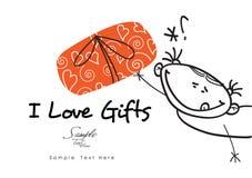Amo i regali! Immagine Stock Libera da Diritti