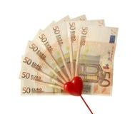 Amo i soldi Fotografia Stock