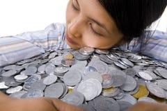 Amo i soldi Fotografie Stock