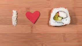Amo i sushi Immagine Stock