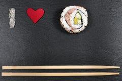 Amo i sushi Immagini Stock