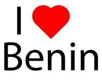 Amo il Benin Immagini Stock