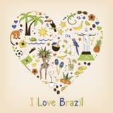 Amo il Brasile Fotografia Stock Libera da Diritti