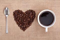Amo il caffè Immagine Stock