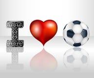 Amo il calcio Immagine Stock