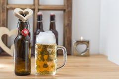 Amo il concetto della birra Fotografie Stock Libere da Diritti