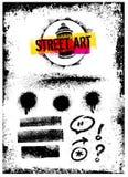 Amo il concetto di Art Creative Vector Bright Poster della via Immagine Stock
