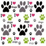 Amo il fondo dei cani Immagini Stock Libere da Diritti