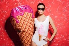 Amo il gelato! Immagini Stock