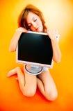 Amo il mio calcolatore! Fotografia Stock
