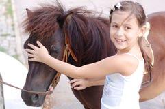 Amo il mio cavallino Fotografia Stock Libera da Diritti