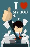 Amo il mio job Immagini Stock