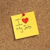 Amo il mio job immagine stock