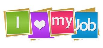 Amo il mio Job Colorful Blocks illustrazione di stock