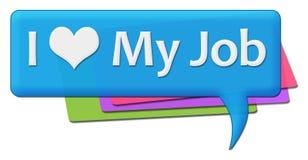 Amo il mio Job Colorful Comments Symbols royalty illustrazione gratis