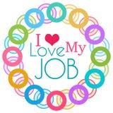 Amo il mio Job Colorful Rings Circular royalty illustrazione gratis