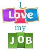 Amo il mio Job Colorful Squares Stripes illustrazione di stock