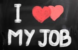 Amo il mio Job Concept Fotografie Stock Libere da Diritti