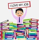 Amo il mio Job Concept Immagine Stock Libera da Diritti