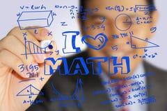 Amo il per la matematica immagine stock
