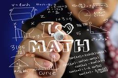 Amo il per la matematica fotografie stock
