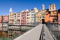 Amo il ponte di Gomez di Gerona, Spagna Immagine Stock