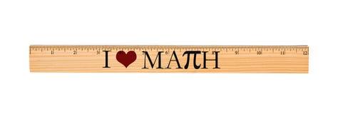 Amo il righello di per la matematica Immagine Stock
