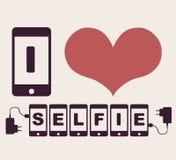Amo il selfie royalty illustrazione gratis