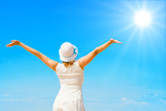 Amo il sole di estate! Fotografia Stock Libera da Diritti