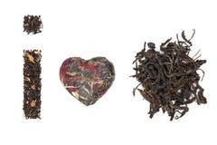 Amo il tè. raccolta del tè. Fotografia Stock Libera da Diritti