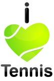 Amo il tennis Fotografia Stock Libera da Diritti