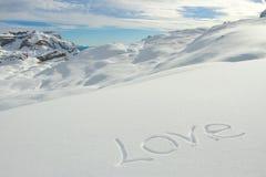 Amo invierno Imagenes de archivo
