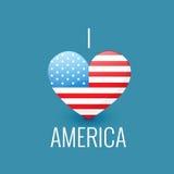 Amo l'america Fotografia Stock
