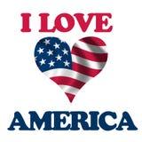 Amo l'America Fotografia Stock Libera da Diritti