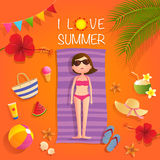 Amo l'estate Fotografie Stock Libere da Diritti