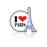 Amo l'etichetta di Parigi Immagine Stock Libera da Diritti