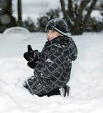 Amo l'inverno Fotografia Stock Libera da Diritti