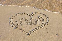 Amo l'Italia Fotografia Stock Libera da Diritti