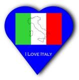 Amo l'Italia Immagini Stock Libere da Diritti