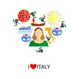 Amo l'Italia Immagine Stock Libera da Diritti