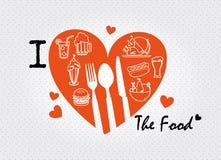 Amo la comida Imagenes de archivo