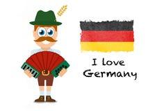 Amo la Germania, manifesto eccellente di affari dell'estratto di qualità illustrazione di stock