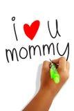 Amo a la mamá Fotografía de archivo libre de regalías