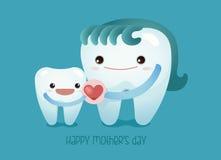 Amo a la mamá, concepto dental Foto de archivo libre de regalías